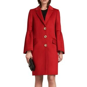 Burberry Samborne Wool & Cashmere Bell-Sleeve Coat